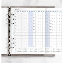 2022 A5 Filofax éves naptárbetét kihajtható fehér