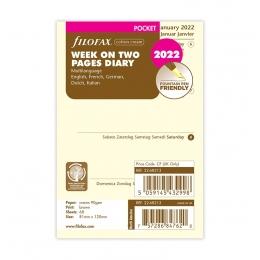 2022 Pocket Filofax heti naptárbetét 1 hét / 2 oldal Krém