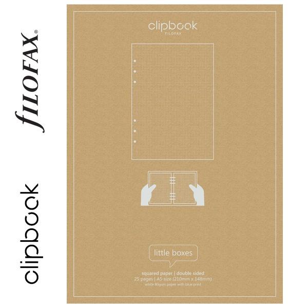 Négyzethálós A5 Filofax Clipbook Jegyzetlap