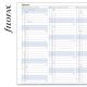 2022 A5 éves Notebook naptárbetét álló fehér lapos angol   Filofax Notebook
