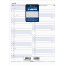 2022 A4 Filofax éves Notebook naptárbetét álló fehér lapos | Filofax Notebook