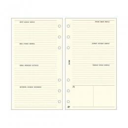 Krém L (A5) Bianco heti tervező Saturnus pótlapcsomag