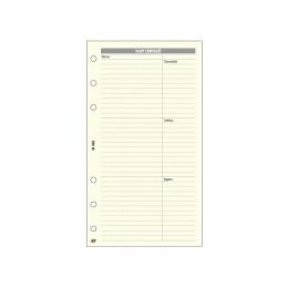 Krém L (A5) Bianco napi tervező Saturnus pótlapcsomag