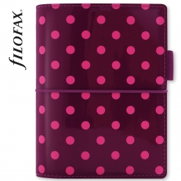 Filofax Domino Lakk Pocket Lila pöttyös