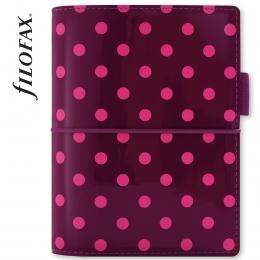 Lila pöttyös Pocket Filofax Domino Lakk határidőnapló