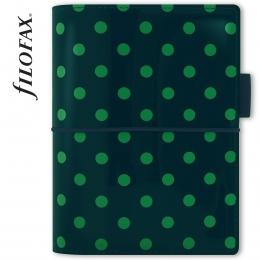 Zöld pöttyös Pocket Domino Lakk Filofax határidőnapló