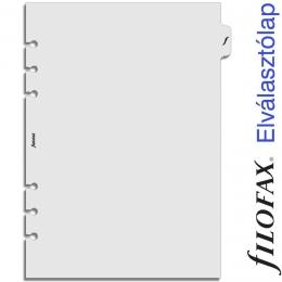 Filofax A5 átlátszó elválasztó lap