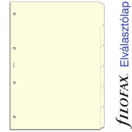 A4 elválasztólap felirat nélkül krém | Filofax