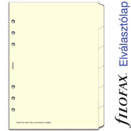 Filofax Elválasztó lap, Bianco, 6 regiszter A5 Krém