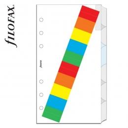 Filofax Elválasztó lap, Bianco, színes regiszter címkékkel, 6 regiszter Personal Fehér