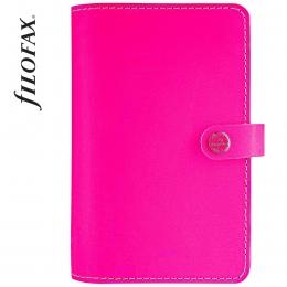 Fluoro Pink Personal Original lakkbőr határidőnapló   Filofax