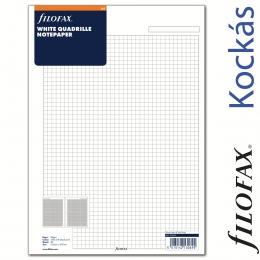 Filofax Jegyzetlapok, Négyzethálós, A4 Fehér