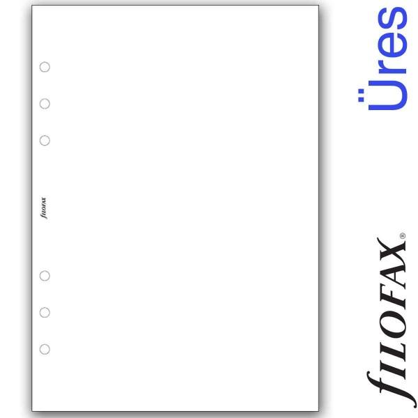 Filofax Jegyzetlapok, Üres, A5 Fehér