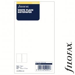Filofax Jegyzetlapok, Üres, Personal Fehér