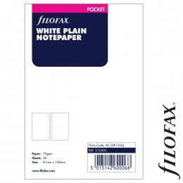 Filofax Jegyzetlapok, Üres, Pocket Fehér