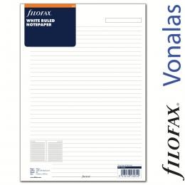 Filofax Jegyzetlapok, Vonalas, A4 Fehér