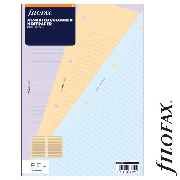 Filofax Jegyzetlapok, Vonalas, A4 Vegyes színű