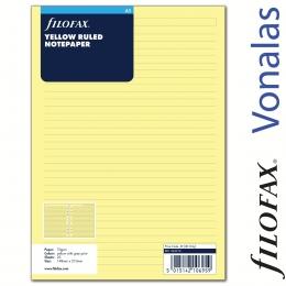 Filofax Jegyzetlapok, Négyzethálós, A5 Sárga