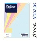 A5 vonalas jegyzetlap klasszikus színek   Filofax