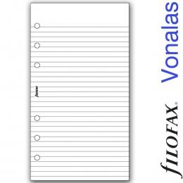Filofax Jegyzetlapok, Vonalas, Personal Fehér