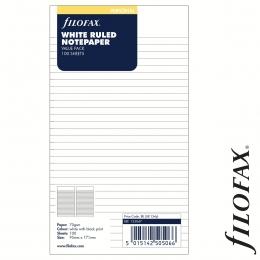 Fehér Personal Vonalas Filofax Jegyzetlap nagy csomag