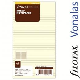 Krém Vonalas Personal Filofax Jegyzetlap