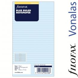 Filofax Jegyzetlapok, Vonalas, Personal Kék