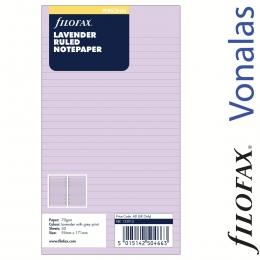 Levendula Vonalas Personal Filofax Jegyzetlap