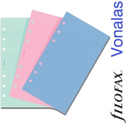 Háromféle színű Pesonal Vonalas Filofax Jegyzetlap