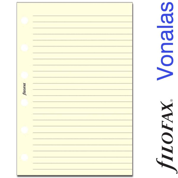 Filofax Jegyzetlapok, Vonalas, Pocket Krém