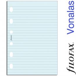 Filofax Jegyzetlapok, Vonalas, Pocket Kék