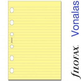 Filofax Jegyzetlapok, Vonalas, Pocket, Sárga