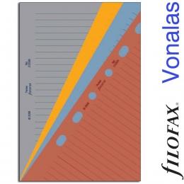 Filofax Jegyzetlapok, Vonalas, Pocket vegyes színben