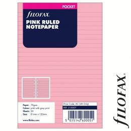 Filofax Jegyzetlapok, Vonalas, Pocket Pink