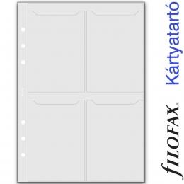 Filofax Kártyatartó, Névjegykártya A5 Átlátszó
