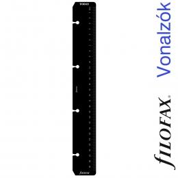 Filofax Vonalzó, nap jelölő A4 Fekete
