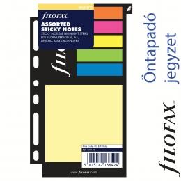 Filofax Öntapadó színes jelölő címke és jegyzet nagy méret vegyes színű
