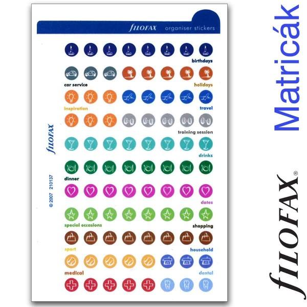 Filofax Öntapadó színes szervező címke kis méret