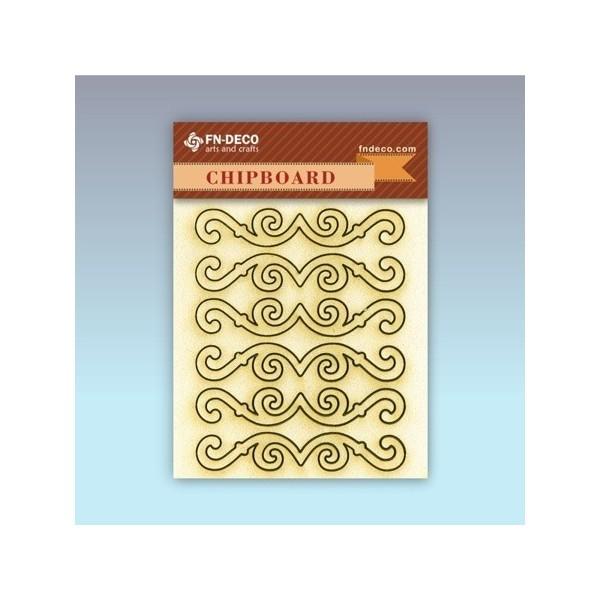 Bordűrök chipboard karton díszítőelem