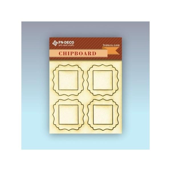 Keretek chipboard karton díszítőelem