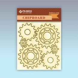 Fogaskerék chipboard karton díszítőelem