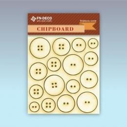 Gomb chipboard karton díszítőelem