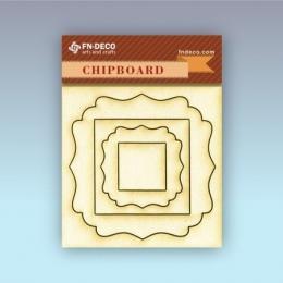 Keret 2 chipboard karton díszítőelem