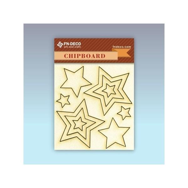 Csillag chipboard karton díszítőelem
