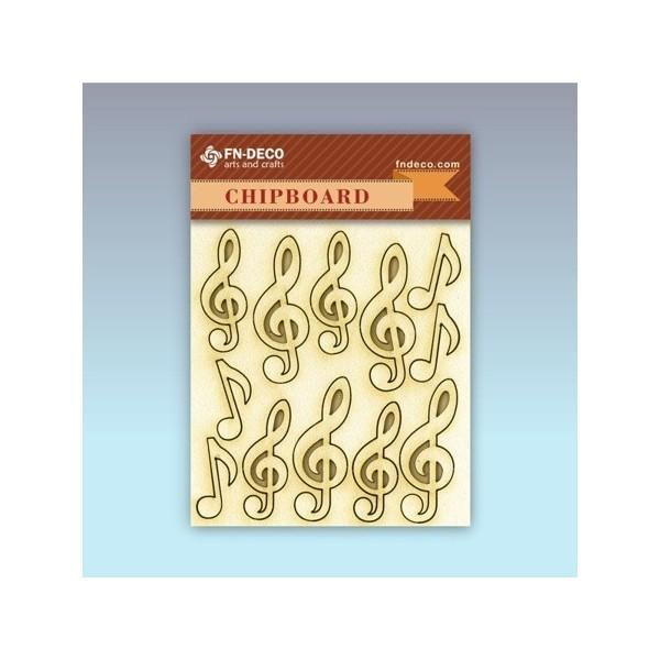 Violinkulcs chipboard karton díszítőelem