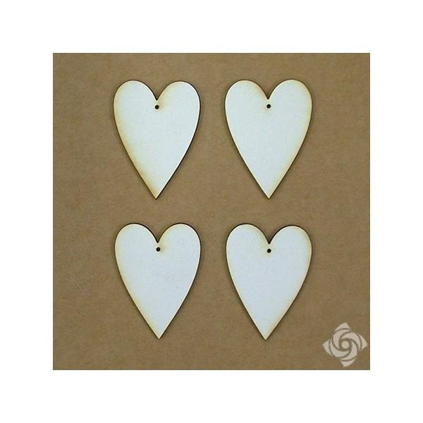 Country szív chipboard karton díszítőelem