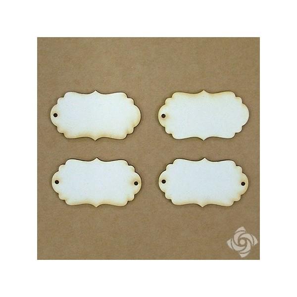 Címke chipboard karton díszítőelem