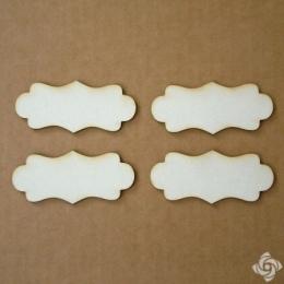 Címke chipboard karton díszítőelem, 7 cm