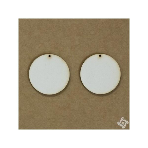 Kör chipboard karton díszítőelem. 4 cm