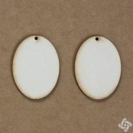 Ovális chipboard karton díszítőelem